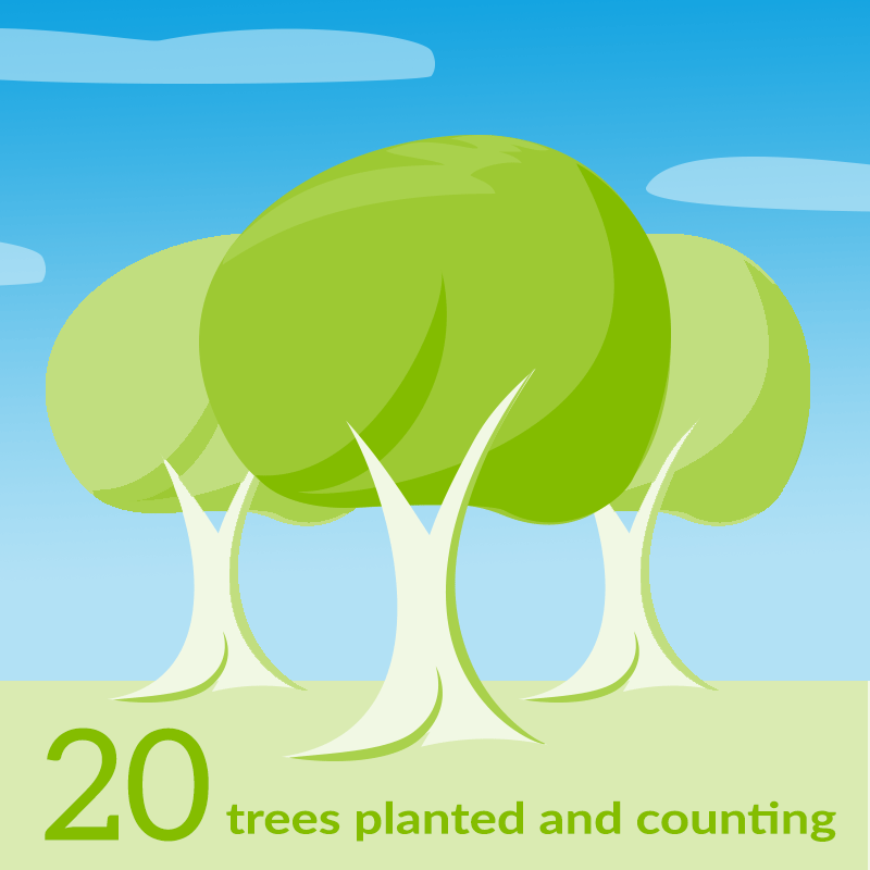 20 trees and counting